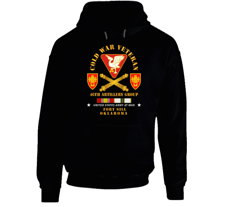 Army - Cold War Vet - 46th Artillery Group - Fort Sill, Ok W Cold Svc Hoodie