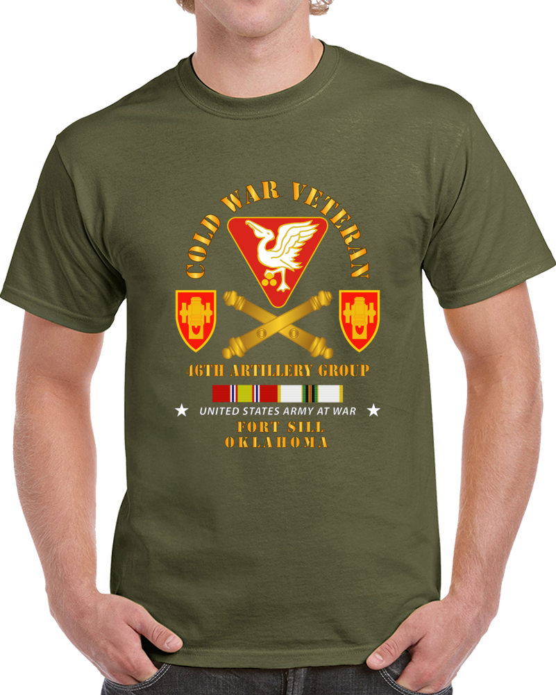 Army - Cold War Vet - 46th Artillery Group - Fort Sill, Ok W Cold Svc T Shirt