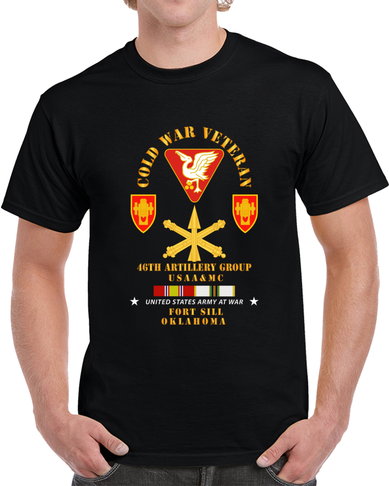Army - Cold War Vet - 46th Artillery Group - Fort Sill, Ok - Missile Branch W Cold Svc T Shirt