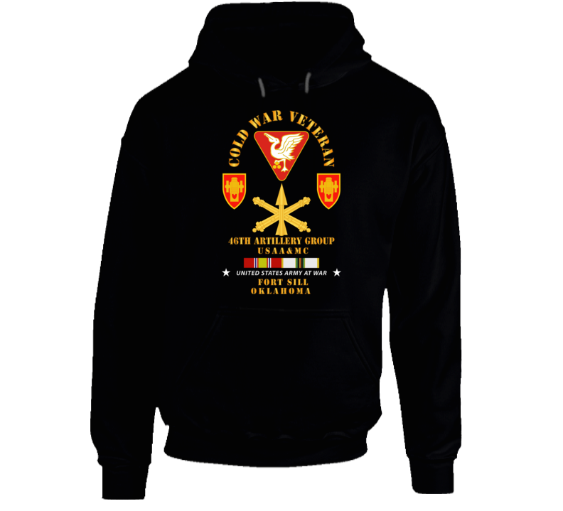 Army - Cold War Vet - 46th Artillery Group - Fort Sill, Ok - Missile Branch W Cold Svc Hoodie