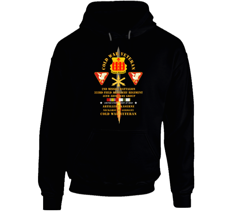 Army - Cold War Vet - 2nd Missile Bn, 333rd Artillery 46th Artillery Group - Germany - Firing Missile  W Cold Svc Hoodie