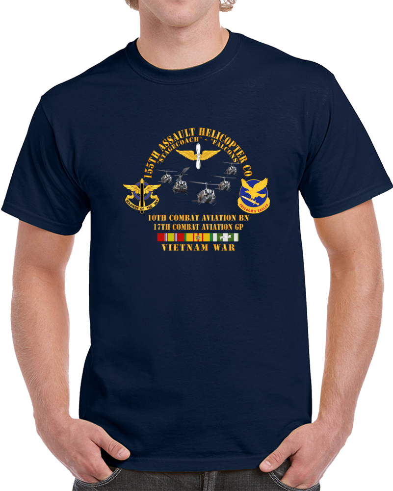 Army - 155th Ahc - Stagecoach - Falcons W Vn Svc T Shirt