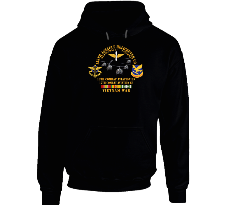 Army - 155th Ahc - Stagecoach - Falcons W Vn Svc Hoodie