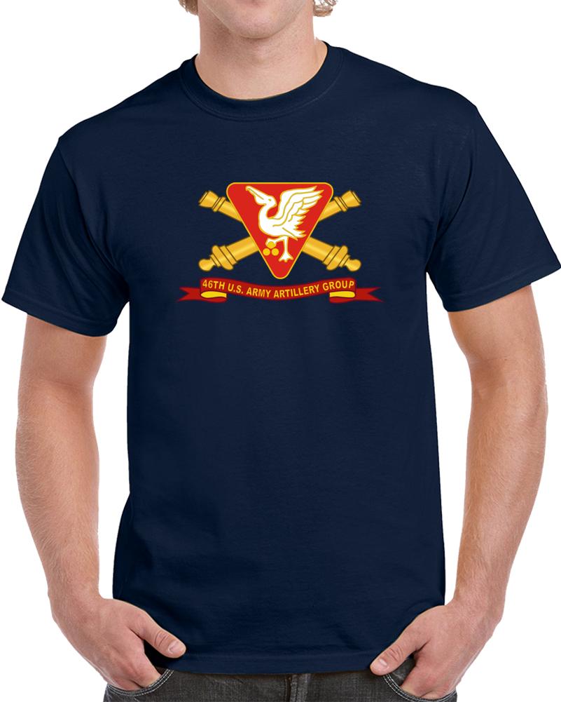 Army - 46th U.s. Army Artillery Group W Br - Ribbon T Shirt