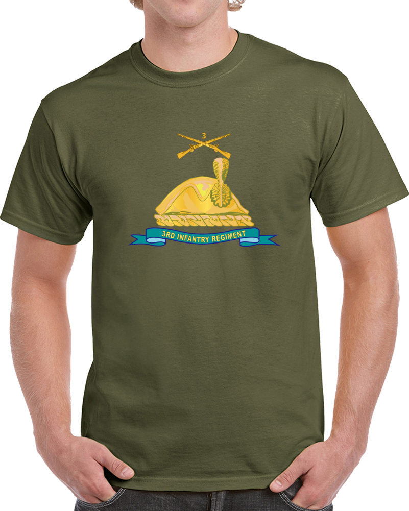 Army - 3rd Infantry Regiment - Gold - W Br - Ribbon T Shirt