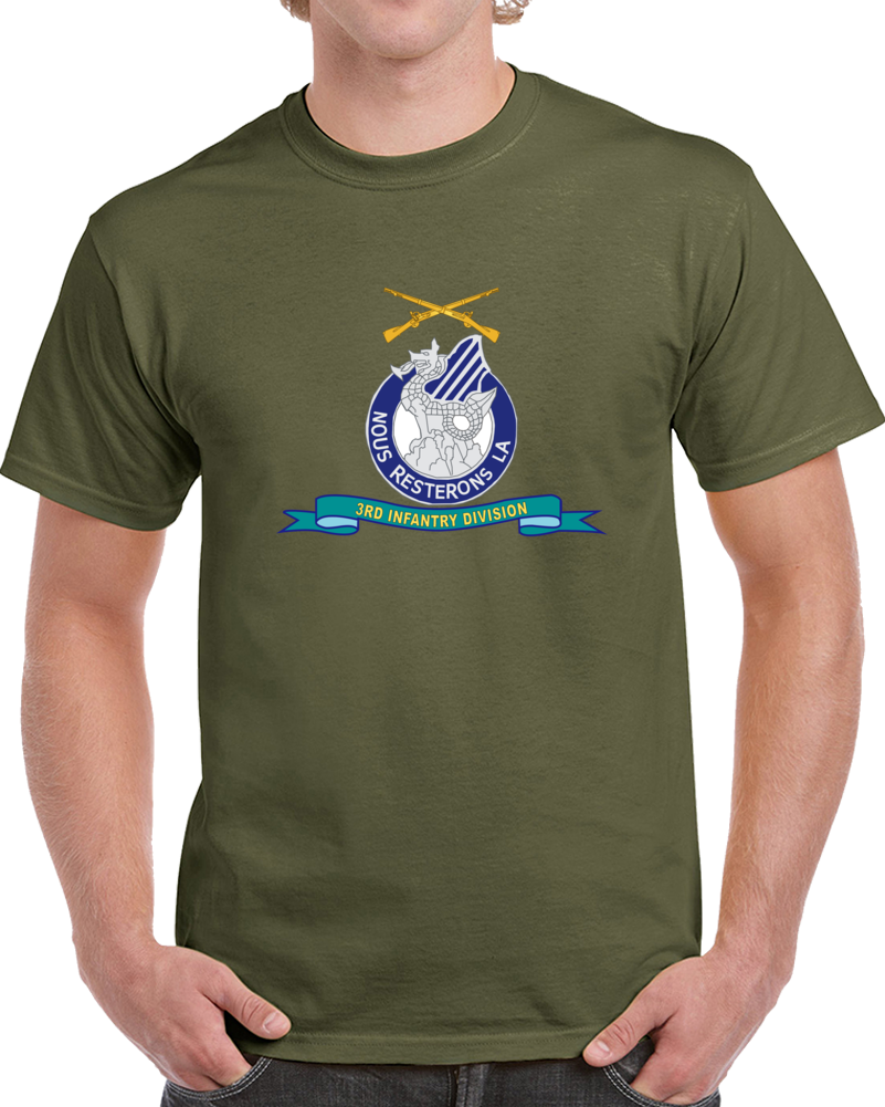 Army - 3rd Infantry Division - W Br - Ribbon T Shirt