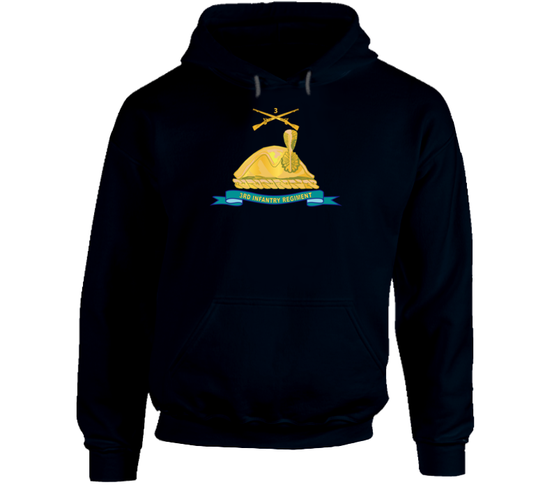 Army - 3rd Infantry Regiment - Gold - W Br - Ribbon Hoodie