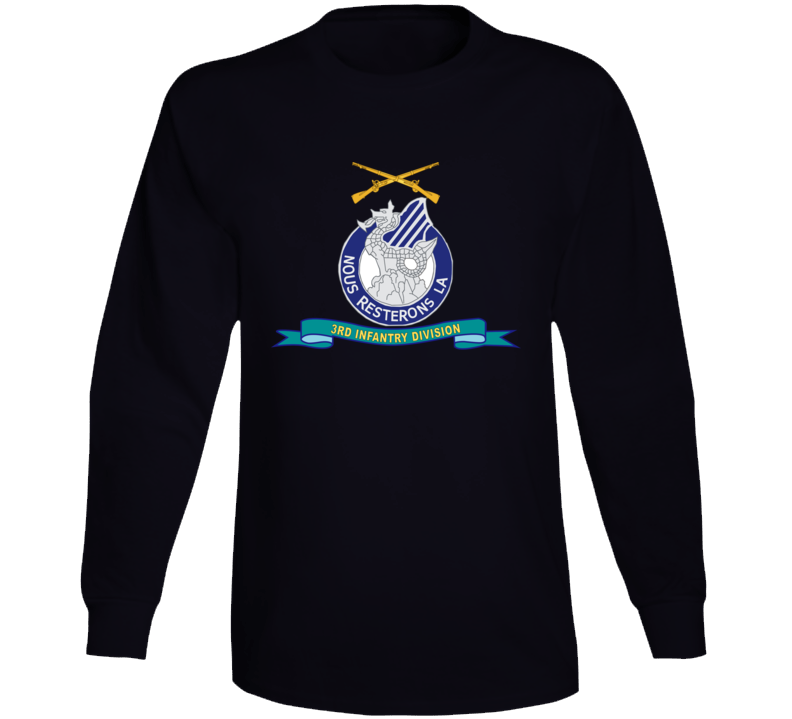 Army - 3rd Infantry Division - W Br - Ribbon Long Sleeve T Shirt