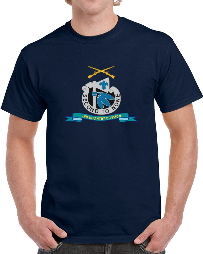 Army - 2nd Infantry Division - W Br - Ribbon T Shirt