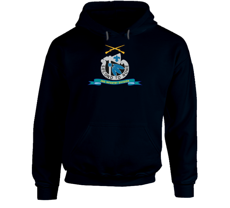 Army - 2nd Infantry Division - W Br - Ribbon Hoodie