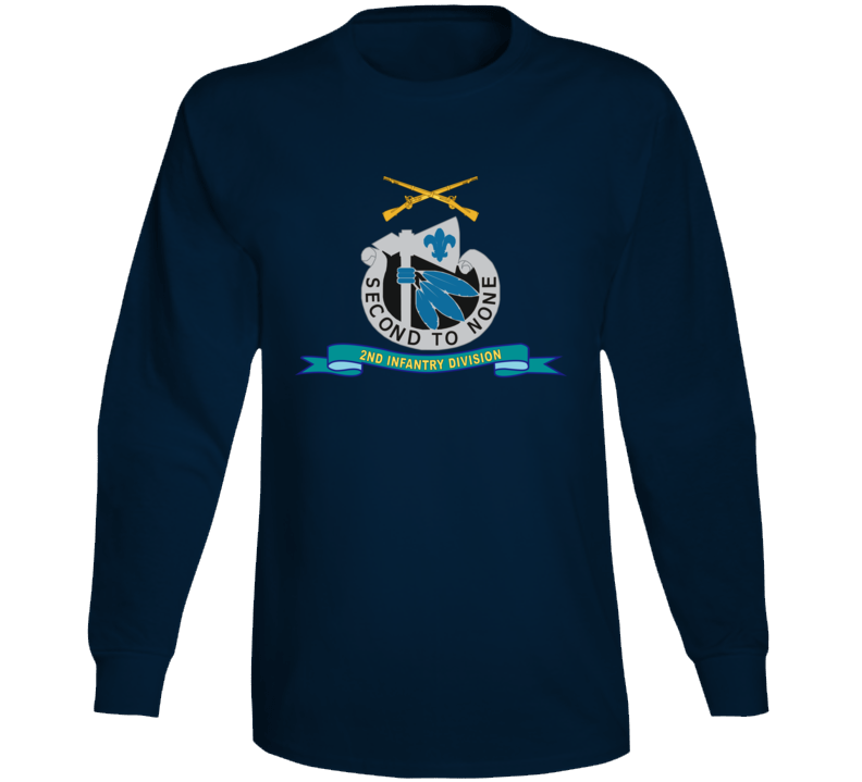 Army - 2nd Infantry Division - W Br - Ribbon Long Sleeve T Shirt