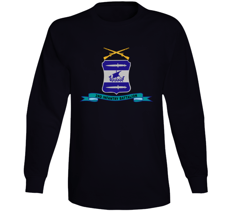 Army - 2nd Infantry Battalion W Br - Ribbon Long Sleeve T Shirt