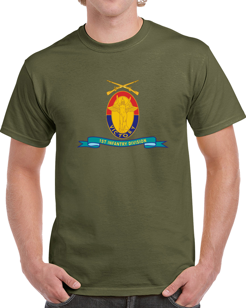 Army - 1st Infantry Division - W Br - Ribbon T Shirt