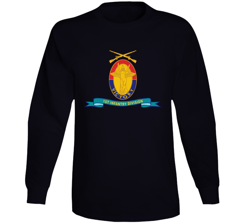 Army - 1st Infantry Division - W Br - Ribbon Long Sleeve T Shirt