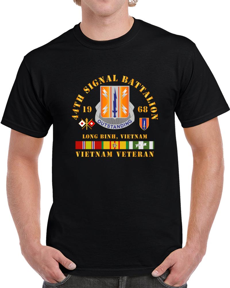 Army - 44th Signal Bn 1st Signal Bde W Vn Svc 1968 T Shirt