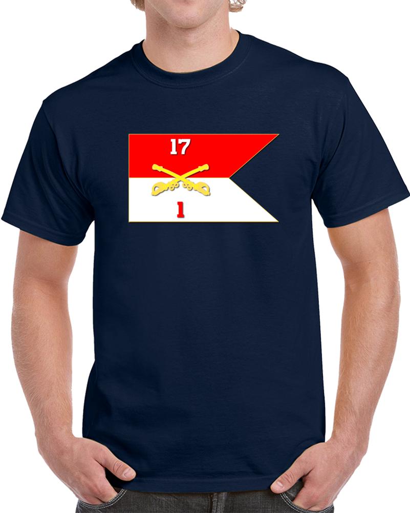Army - 1st Squadron, 17th Cavalry Guidon T Shirt