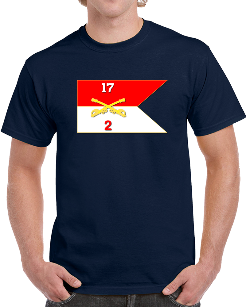 Army - 2rd Squadron, 17th Cavalry Guidon T Shirt