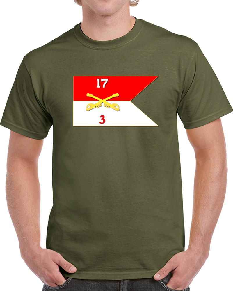 Army - 3rd Squadron, 17th Cavalry Guidon T Shirt