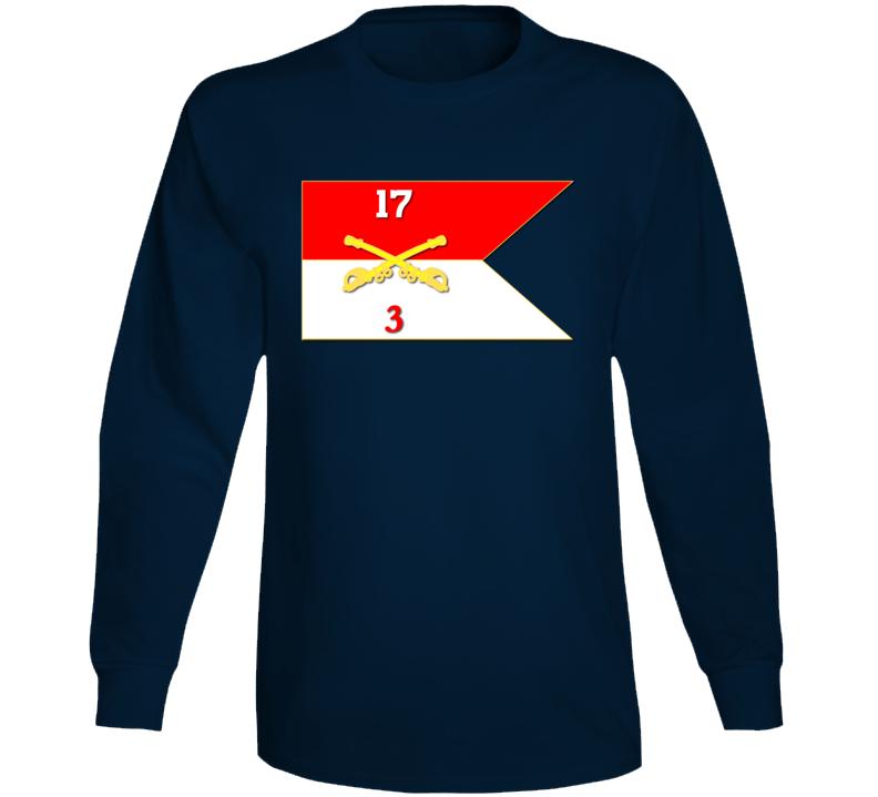 Army - 3rd Squadron, 17th Cavalry Guidon Long Sleeve T Shirt