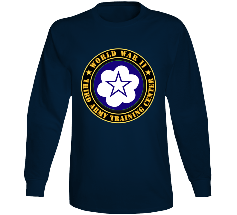 Army - Third Army Training Center - Wwii Long Sleeve T Shirt