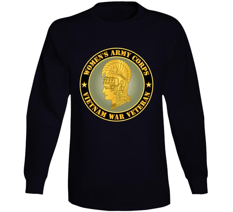 Army - Women's Army Corps - Vietnam War Veteran Long Sleeve T Shirt