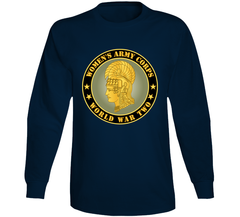 Army - Women's Army Corps - Wwii Long Sleeve T Shirt
