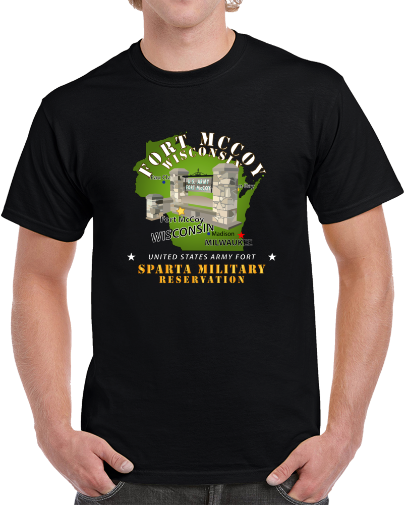Army - Ft Mccoy Wi - Sparta Military Resv - White T Shirt