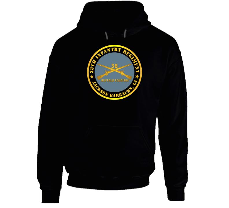 Army - 38th Infantry Regiment - Buffalo Soldiers - Jackson Barracks, La W Inf Branch Hoodie