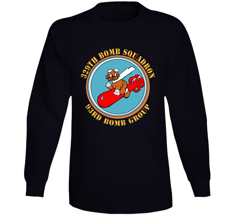 Aac - 329th Bomb Squadron,93rd Bomb Group - Wwii - Usaaf Long Sleeve T Shirt