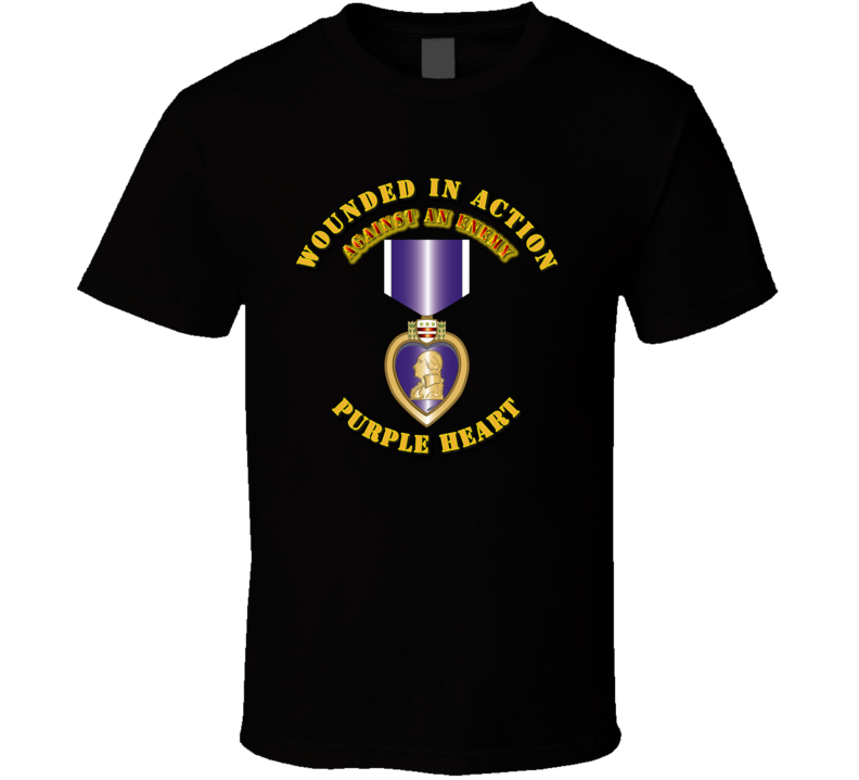 Wounded in Action - Purple Heart T Shirt