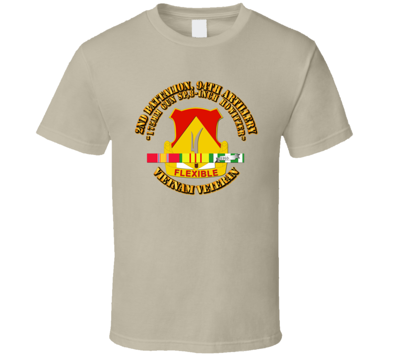2nd Battalion, 94th Artillery w SVC Ribbon T Shirt