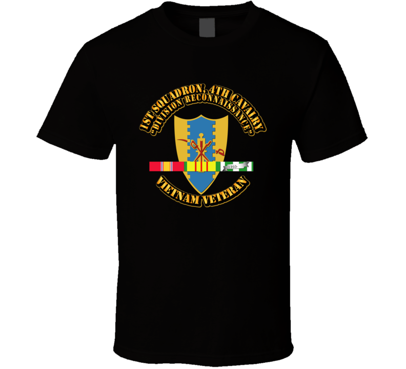 1st Squadron, 4th Cavalry w SVC Ribbon T Shirt