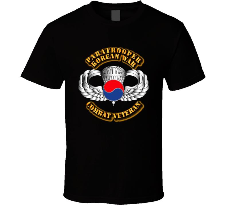 Paratrooper - Korean War - Cbt Vet T Shirt