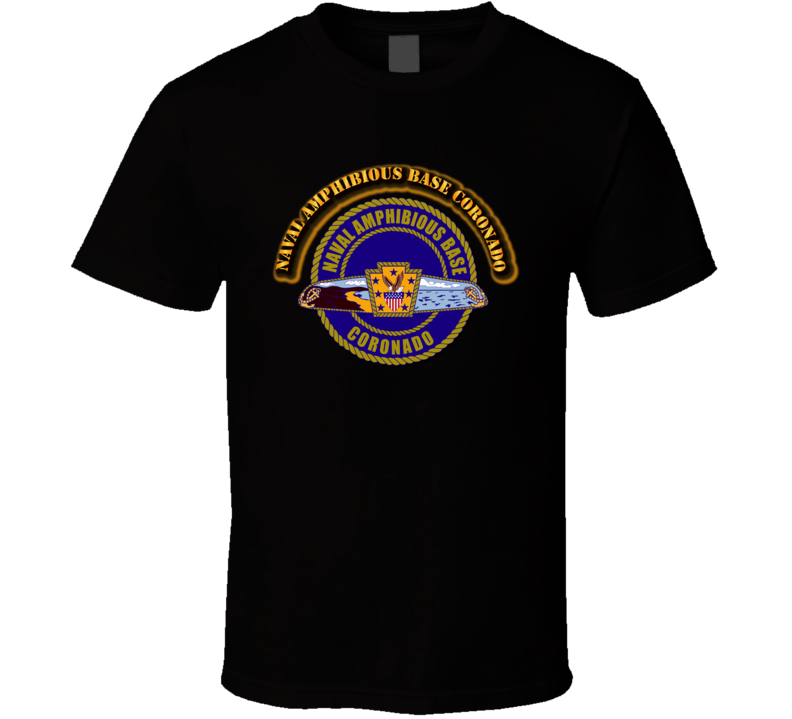 Naval Amphibious Base Coronado - with text T Shirt
