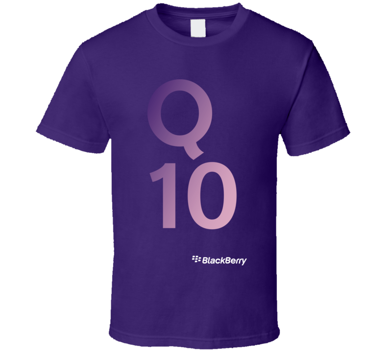 Q10 - BlackBerry Purple T Shirt