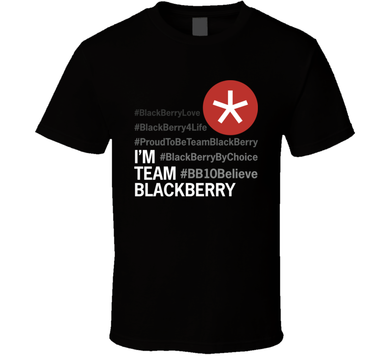 BlackBerry Love dark T Shirt