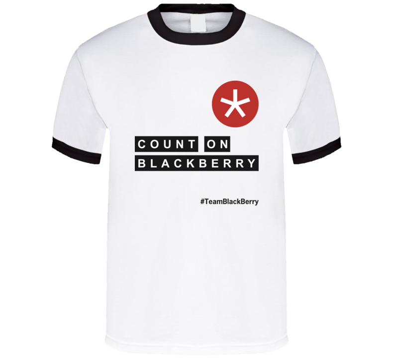 Count on BlackBerry T Shirt Light