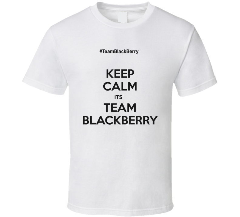 Keep Calm Team BlackBerry T Shirt