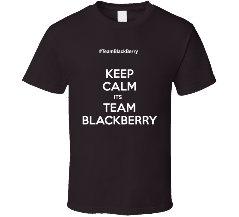 Keep Calm Team BlackBerry dark T Shirt