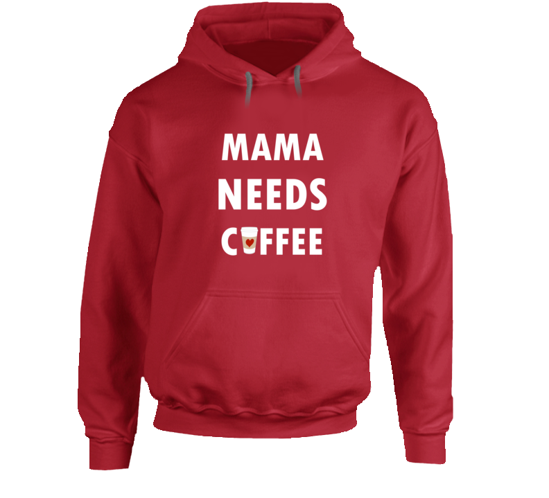 Red Mama Needs Coffee Sweatshirt