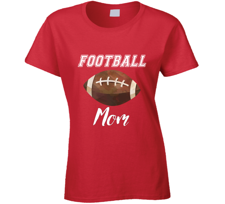 Red Football Mom Tee, Red Football Mom Shirt, Red Football Mom Shirt