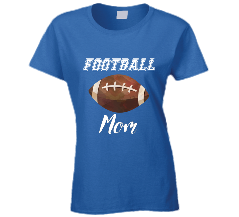 Blue Football Ladies Tee, Blue Football Ladies Tshirt, Blue Footbal Ladies Shirt