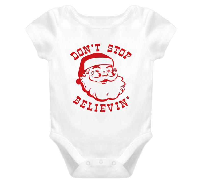 Christmas Onesie, Don't Stop Believin' Onesie, Santa Onesie, Kids Unisex Onesie