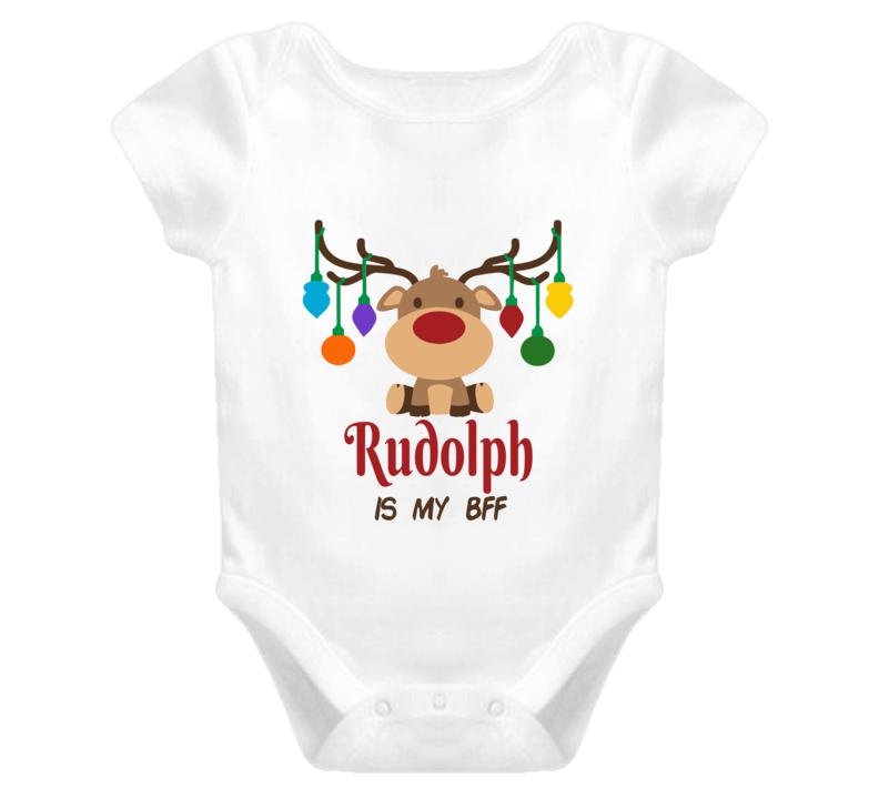 Christmas Onesie, Rudolph Onesie, Rudolph Is My Bff Onesie, Kids Unisex Onesie