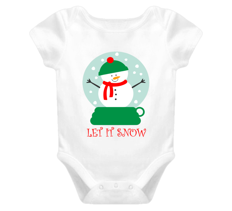 Let It Snow Onesie, Christmas Outfit, Kids Unisex Christmas Shirt, Let It Snow Bodysuit
