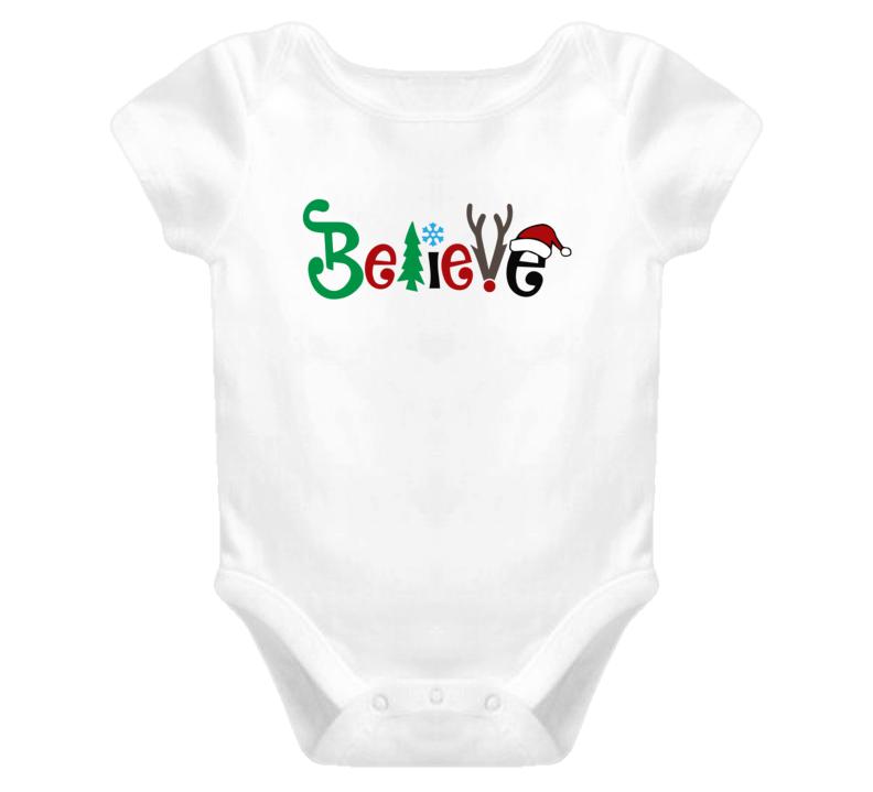 Believe, Believe Onesie, Believe Baby Bodysuit, Believe Romper