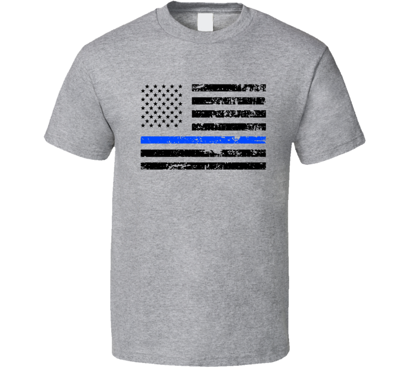 Thin Blue Line Shirt, Thin Blue Line Flag Shirt, Blue Lives Matter Shirt