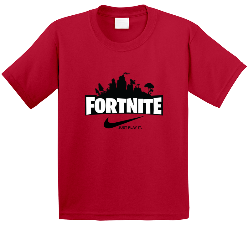 Red Fortnite Kids Shirt