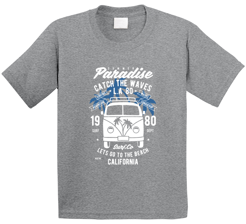 Kids Shirt, Catch The Waves Shirt, Catch The Waves Tee, Surf T Shirt