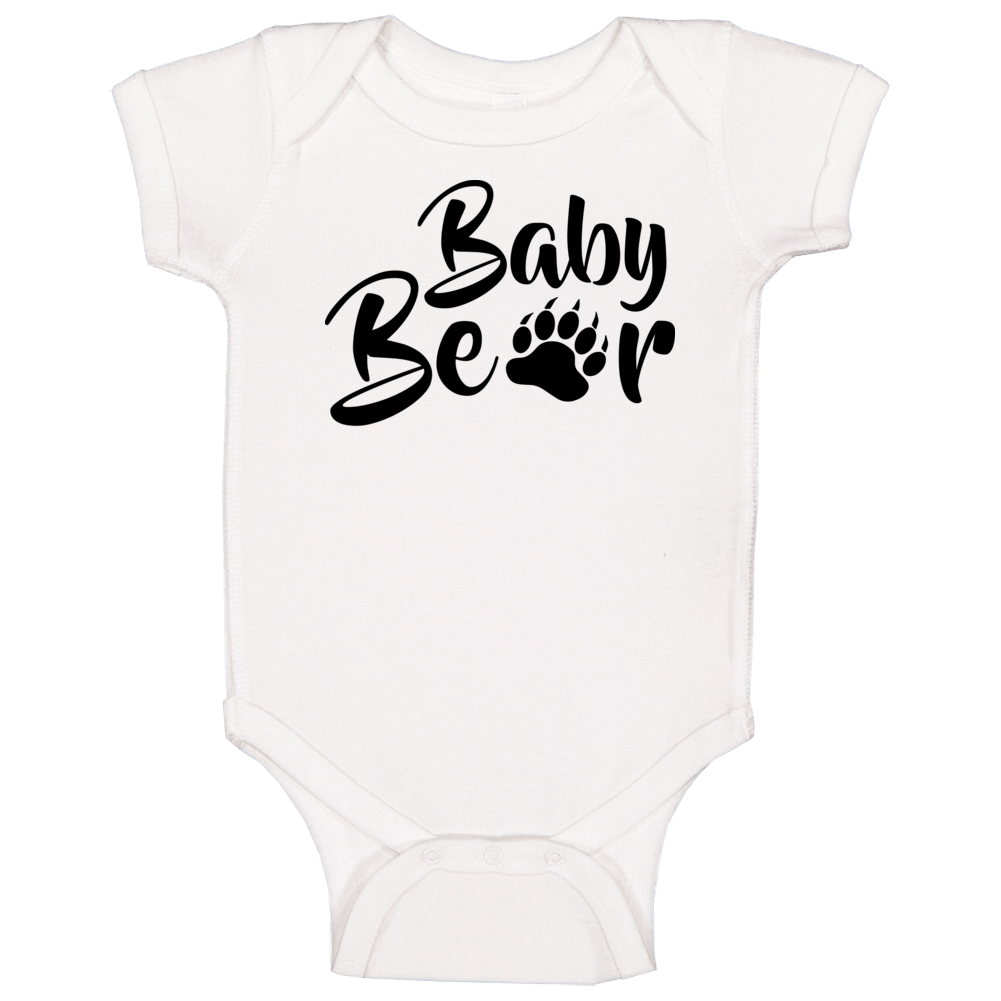 Baby Bear Onesie, Baby Bear One Piece, Baby Bear Shirt, Baby Bear, Mama Bear, White Baby One Piece